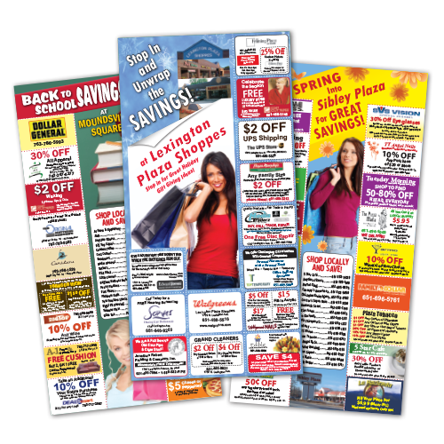 Mall Coupon Direct Mail Pieces