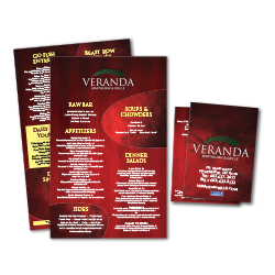 In-house and Take-out menu design